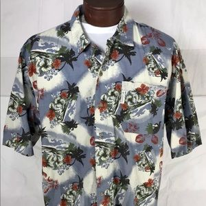 Columbia Hawaiian Camp Beach Cruise SS Shirt Sz L